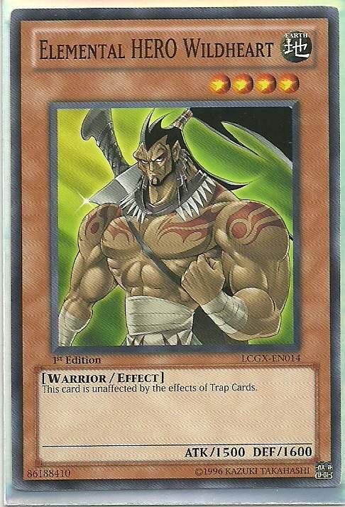 Elemental Hero Wildheart LCGX-EN008 Elemental HERO Neos